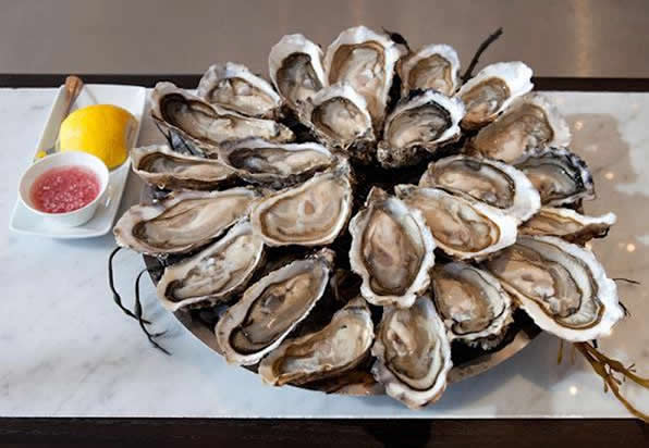 Oysters at Le Cafe Anglais