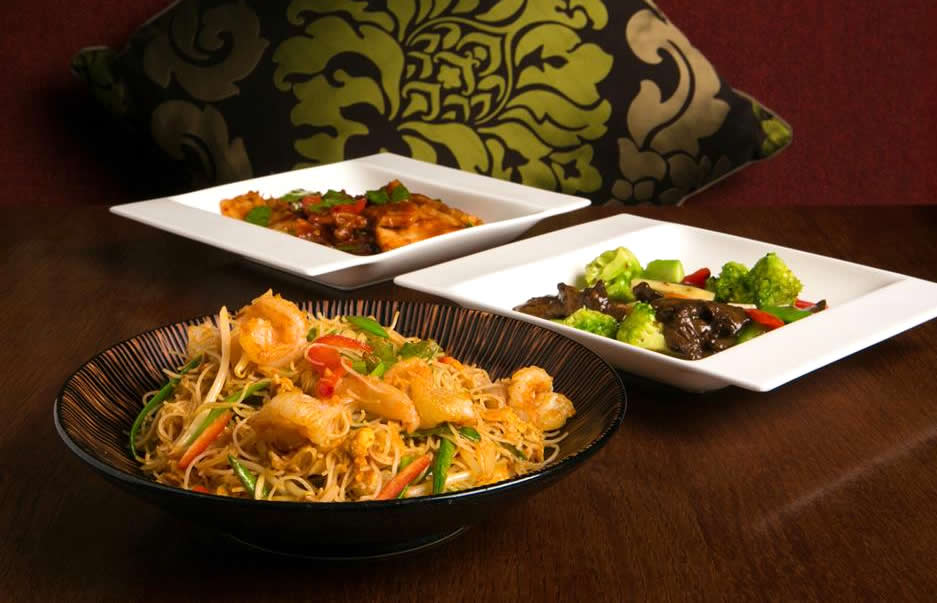 New Year dishes at Chinese Cricket Club.