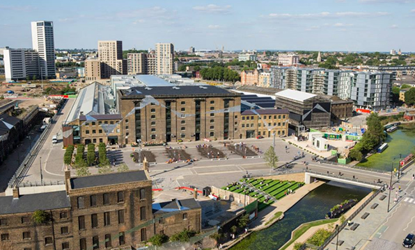 Granary Square. Photo Credit: King's Cross Facebook page.