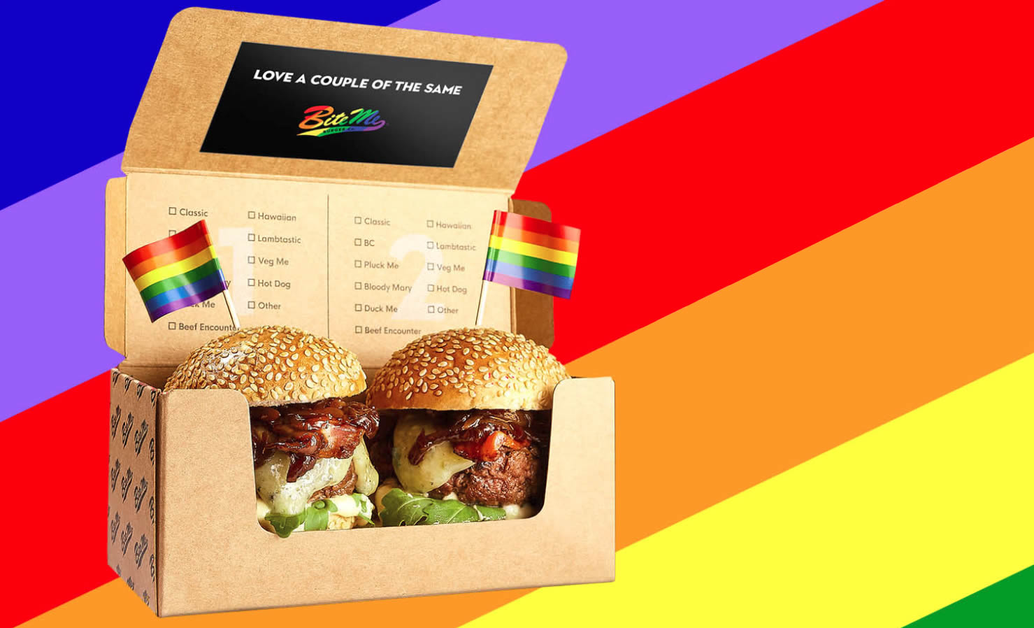 Pride Duos at Bite Me Burger Co