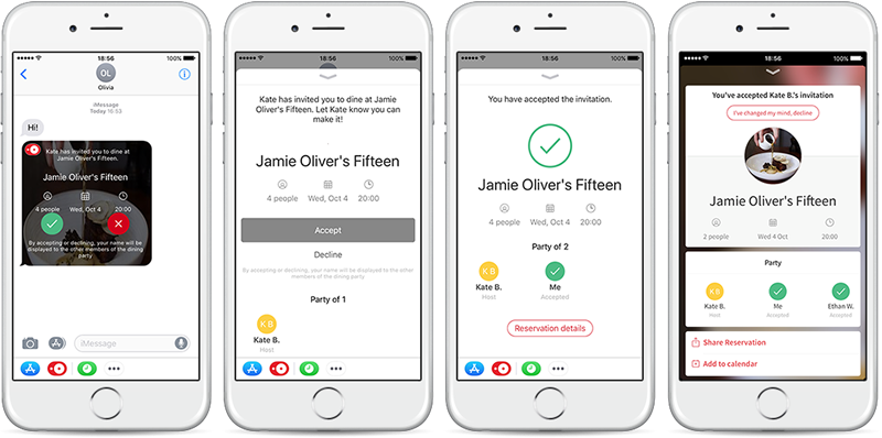 OpenTable unveils new features optimized for iOS 11 to make sharing and keeping track of reservations even easier